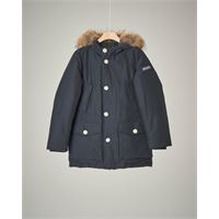 Woolrich parka detachable fur blu navy 8-16 anni