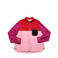 MARNI JUNIOR camicia in viscosa color block