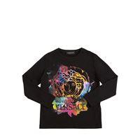 VERSACE t-shirt in jersey di cotone tie dye