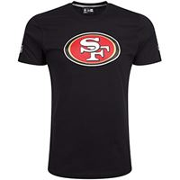 New Era team logo tee san francisco 49ers, short sleeve uomo, nero (black), large