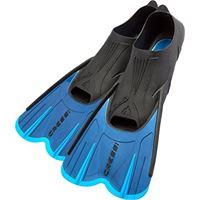Cressi agua short, pinne corte self adjusting per snorkeling e nuoto unisex adulto/bambino, 45/46, blu