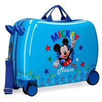 Topolino - Mickey Mouse trolley abs valigia rigida cavalcabile 50cm 4r, 35l topolino