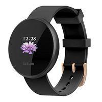 BOZLUN smartwatch donna uomo cardiofrequenzimetro, smart watch android ios, orologio ip68 sveglia automatica impermeabile schermo smart watch cellulare(nero)