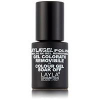 Layla cosmetics Laylagel polish smalto semipermanente per unghie con lampada uv, 1 confezione da 10 ml, tonalità caliente