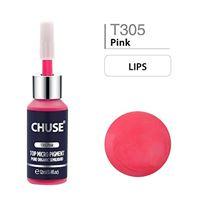 CHUSE t305 rosa colore cosmetico dell'inchiostro del tatuaggio di trucco del pigmento di microblading micro pigmento sgs passato, derma. Test 12 ml (0. 4fl. Oz)