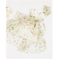 Forever U - vestito da prom in organza a fiori-multicolore