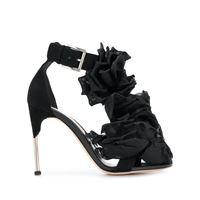 ALEXANDER MCQUEEN sandali donna 595429whv6e1081 pelle nero
