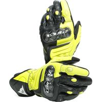 Dainese guanti moto pelle Dainese carbon 3 long nero giallo fluo bianco