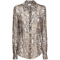 MAGDA BUTRYM camicia in seta georgette stampa pitone