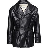 MAISON MARGIELA giacca doppiopetto in pelle