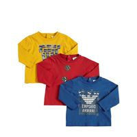 EMPORIO ARMANI set di 3 t-shirt in cotone stretch