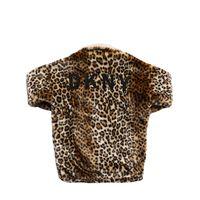 DKNY cappotto in eco pelliccia leopard