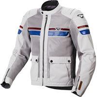 Macna giacca moto estiva Macna fluent grigio chiaro rosso blu
