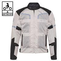 BEFAST giacca moto touring befast stein ce certificata 3 strati nero grigio