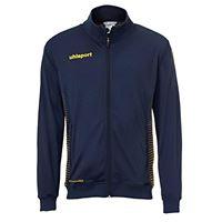 uhlsport score track, giacca bambini, blu marine/giallo fluo, 152