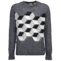 MONCLER GENIUS maglia fragment in misto mohair