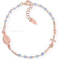 Amen rosari bro25rce3 gioiello donna bracciale argento pietre