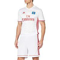 adidas squad 17 sho, pantaloncini uomo, bianco/power rosso, s