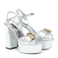 Dolce & Gabbana sandali in pelle metallizzata