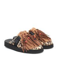 Alanui x suicoke - slippers in cavallino con frange