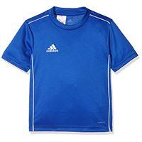 adidas core18 jsy y t-shirt. , unisex bambini, bold blue/white. , 1314