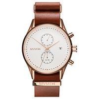 MVMT orologio cronografo quarzo uomo con cinturino in pelle d-mv01-rgna2