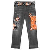 Dolce & Gabbana Kids jeans stretch con logo