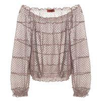 Missoni blusa off-the-shoulder in maglia