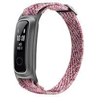 HONOR band 5 sport smartwatch, ecologica fibra braccialetto con 2-vie indossare activity tracker braccialetto per nuoto in esecuzione pallacanestro, sakura rosa