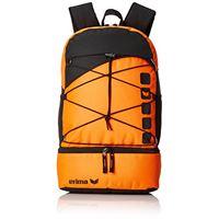 Erima zaino multifunzione con scomparto sul fondo backpack, granito/nero, 1