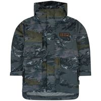 Molo waterproof printed jacket with a removable hood