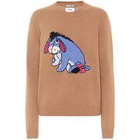 Miu Miu x disneyâ® - pullover in lana vergine a intarsio