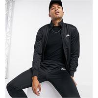Ellesse - tuta sportiva nera con zip - in esclusiva per asos-nero