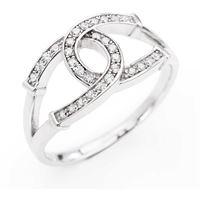 Amen saldi anello amen argento e zirconi ferro di di cavallo - rhs3-10 - mis. 10