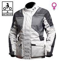 BEFAST giacca moto donna touring befast bolt lady ce certificata 3 strati nero grigio