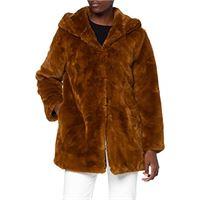 Urban Classics teddyjacke plüsch mantel aus fleece-ladies hooded teddy coat faux fur, caramella mou, xxl donna