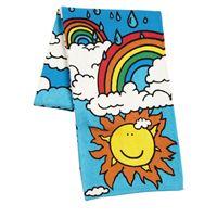 """STELLA MCCARTNEY KIDS sciarpa """"weather"""" in maglia di cotone organico"""