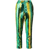 Halpern pantaloni con paillettes - verde