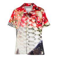 Maison Margiela camicia con stampa - rosso