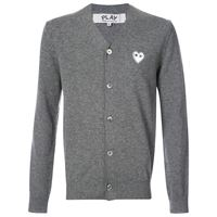 Comme Des Garçons Play cardigan with white heart - grigio