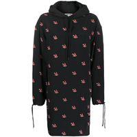 McQ Swallow vestito con cappuccio - nero