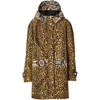 Burberry cappotto con stampa - giallo