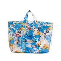Comme Des Garçons Shirt borsa tote a fiori - blu