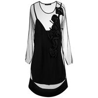 Gloria Coelho embroidered dress - nero