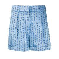 Off-White shorts con effetto jacquard - blu