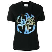 Alberta Ferretti t-shirt love me!Con stampa - nero