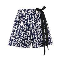 Prada shorts con stampa - blu