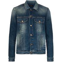 Alanui giacca denim con nodo - blu