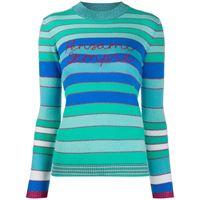 Giada Benincasa maglione a righe pensami sempre - blu