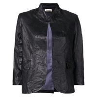Zadig&Voltaire giacca con effetto stropicciato - di colore nero